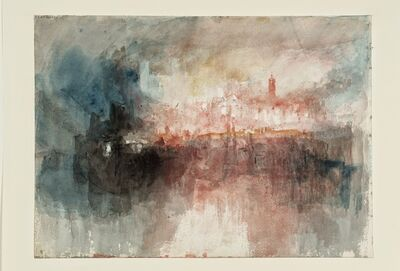 J. M. W. Turner, 'A Fire at the Tower of London', 1841