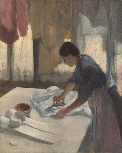 Edgar Degas, 'Woman Ironing', Begun ca. 1876-completed ca. 1887