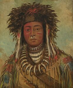 George Catlin, 'Boy Chief - Ojibbeway', 1843