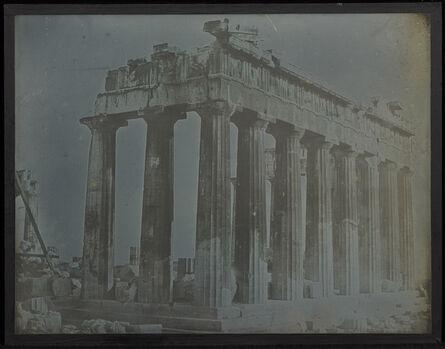 Joseph-Philibert Girault de Prangey, 'Facade and North Colonnade of the Parthenon on the Acropolis, Athens', 1842