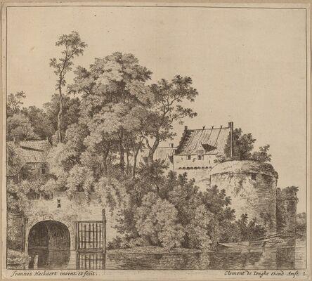 Jan Hackaert, 'Small Town (Town Gate at Gorkum?)'