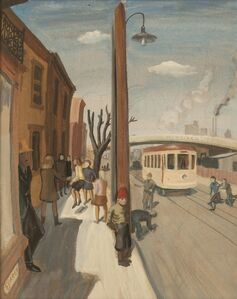 Philip Surrey, 'Street Scene, St. Henri', 1944