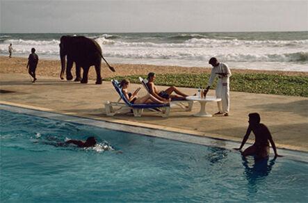 Steve McCurry, 'Tourists Lounge Poolside, Sri Lanka', 1995