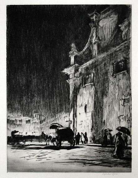 Muirhead Bone, 'Rainy Night in Rome', 1913