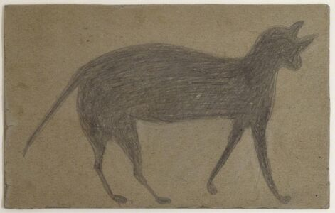 Bill Traylor, 'Cat with Arched Back', ca. 1939