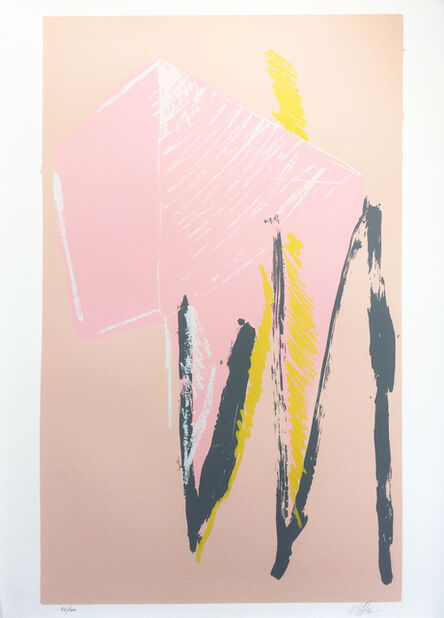 Michael Steiner (b. 1945), 'Bathers or Pink Silkscreen', 1980