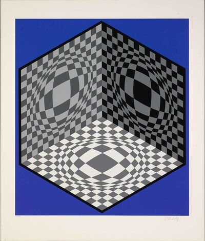 Victor Vasarely, 'Cubic Relationship', 1982