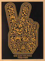 Shepard Fairey, 'End Gun Violence Together Peace Fingers', 2019