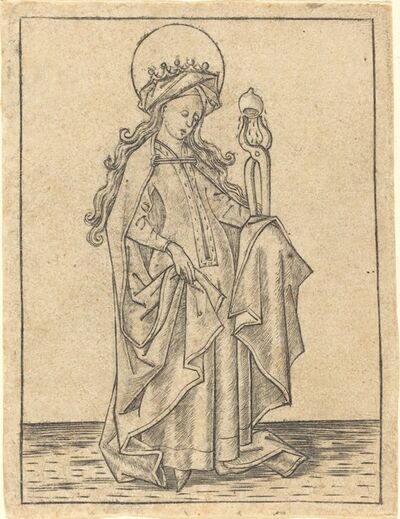 Israhel van Meckenem, 'Saint Agatha', ca. 1465