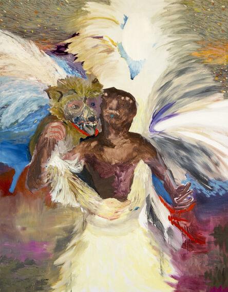 Geneviève Morin, 'Je te mangerai la bouche pleine 2016 (tausend Sterne hundert Zähne)  Oel auf Baumwolle 142 X 112 cm zusammenarbeit mit Alex Bleuler', 2016