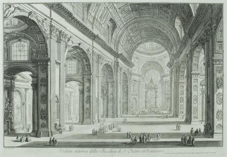 Giovanni Battista Piranesi, 'St. Peter's Interior with the Nave      (Veduta interna della Basilica di S. Pietro in Vaticano)                                                                ', 1748