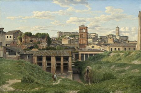 Christoffer Wilhelm Eckersberg, 'View of the Cloaca Maxima, Rome', 1814