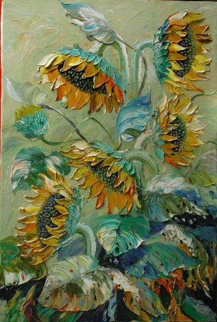 Zhang Shengzan 张胜赞, 'Sunflowers ', 2005