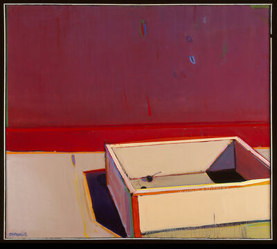 Raimonds Staprans, 'An Almost Empty Cherry Crate with a Red Stripe', 2005