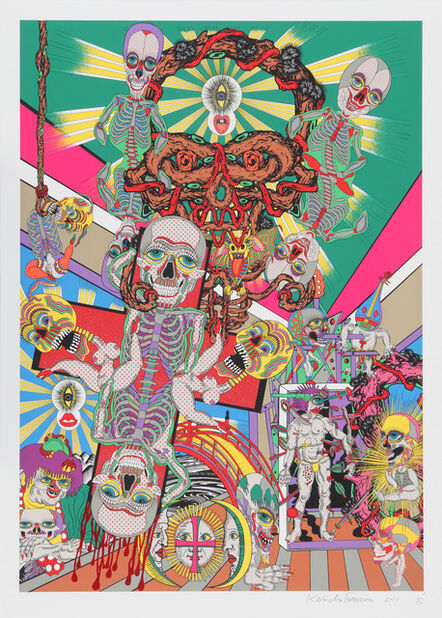 Keiichi Tanaami, 'Lost and Wandering Bridge Series_1', 2011