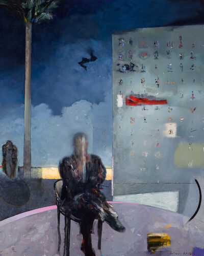 Richard T Smith, 'Seated Figure With Drone And Glyphs', 2017