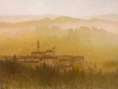 Nicholas Verrall, 'Mist Rising over Monastero della Certosa, Tuscany', 2020