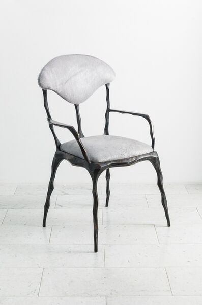 Markus Haase, 'Faceted Bronze Patina Dining Chair with Arms, USA', 2019