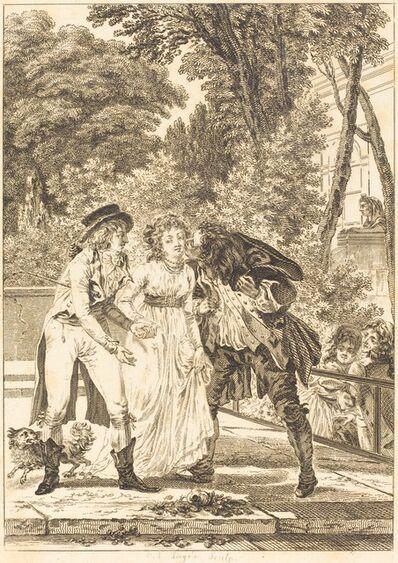Charles Louis Lingée after Jacques Louis François Touzé, 'Le baiser rendu: Le baiser rendu'