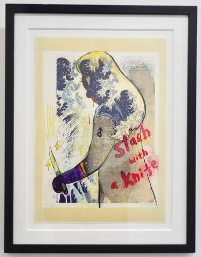 Yoshitomo Nara, 'Slash with a Knife', 1998