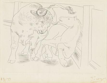 Pablo Picasso, 'Taureau et Cheval, from Le Chef-d'Oeuvre Inconnu, by Honoré de Balzac', 1934