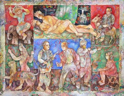 Sakti Burman, 'Love and Violence', 2008