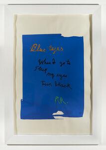 Rene Ricard, 'Blue Eyes', 1989