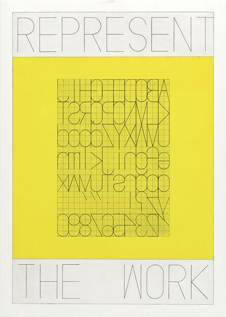 Matt Mullican, 'REPRESENT THE WORK, Alphabet', 2020
