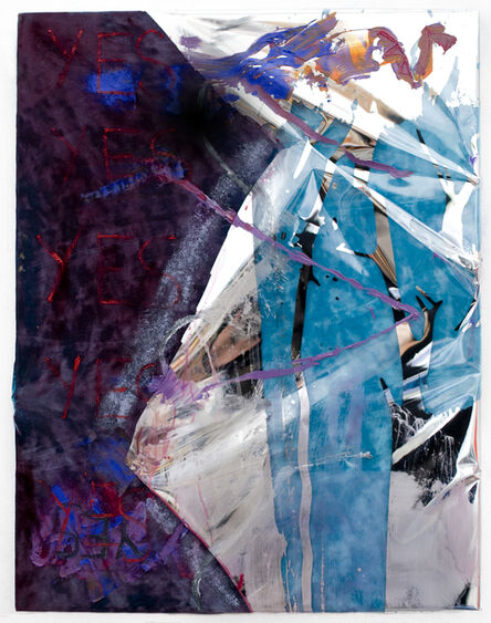 Gaby Collins-Fernandez, 'Blue Velvet SHED BELIEF LIKE TEARS painting', 2014