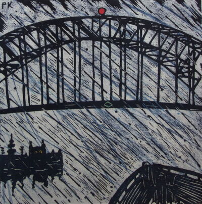 Peter Kingston, '32nd view of the Harbour Bridge', 2001