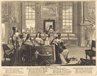 Abraham Bosse, 'The Foolish Virgins Wasting Time'
