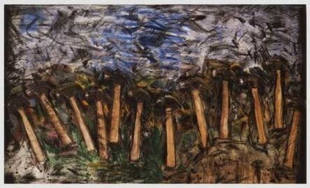 Jim Dine, 'Running Hammers in a Landscape', 1987