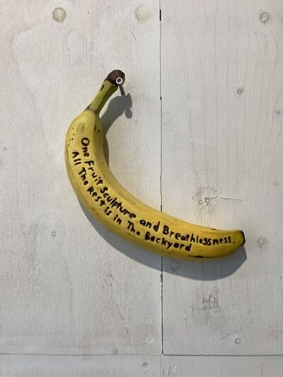 Yosuke Amemiya, 'One Fruit Sculpture and Breathlessness. All the Rest is in The Backyard', 2020