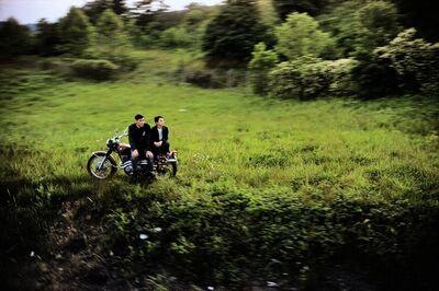 Paul Fusco, 'Untitled from RFK Train Portfolio (Motorcycle Couple)', 1968