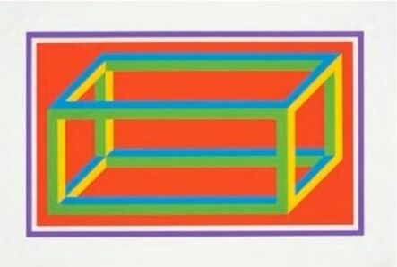 Sol LeWitt, 'Isometric Figures in Five and Six Colors Series (purple border)', 2002