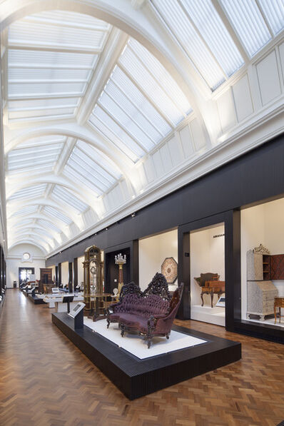 'Installation images of the Dr Susan Weber Gallery, the V&A's new permanent gallery for furniture'