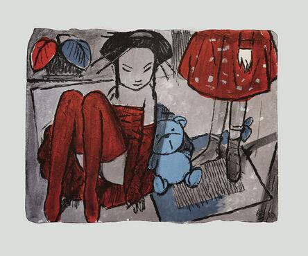 Andrey Ostashov, 'Lilac girls and blue bear', 2010