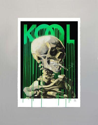 Zevs, 'Kool Skull of a Skeleton (Black)', 2019