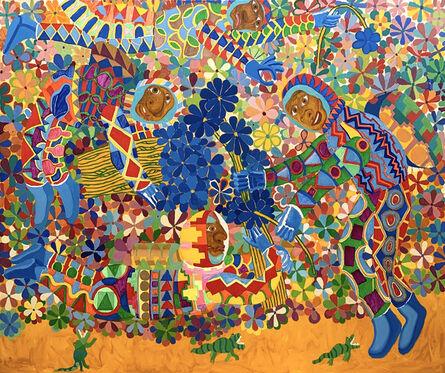 Peter Williams (1952-2021), 'Blue Flowers', 2020