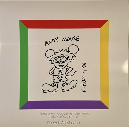 Keith Haring, 'Keith Haring, Andy Warhol, Walt Disney Museum Poster', 1991