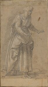 Giovanni Baglione, 'Woman Walking to the Right'