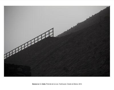 """Humberto Ríos, 'Deceso no. 5, Caída. Pirámide del Sol, Teotihuacán, Estado de México (from the series """"Forensic Documents"""")', 2013"""