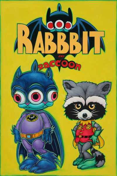 Ron English, 'Rabbbit and Raccoon', 2020