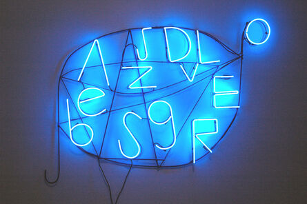 Nathan Carter, 'BLUE SHORT-BURST ALPHABOMBASTIC SMS MESSAGE BETWEEN SOME PEOPLE WHO KNOW OTHER PEOPLE WHO KNOW', 2009