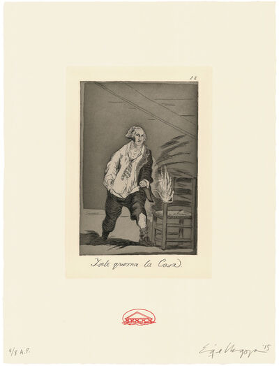 Enrique Chagoya, 'Y se le quema la casa / And the house is on fire', 2015