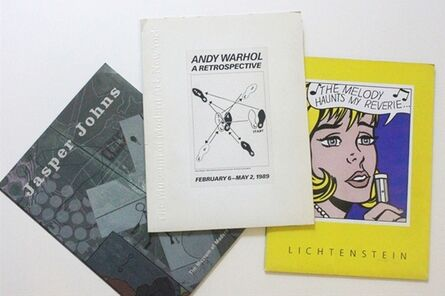 Jasper Johns, 'Rare Set of Three Vintage Press Kits for Andy Warhol (MOMA), Roy Lichtenstein (National Gallery, LACMA & Dallas Museum) and Jasper Johns (MOMA) Exhibitions', 1989-1997