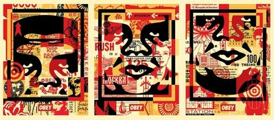 Shepard Fairey, 'Obey 3 Face Collage', 2019
