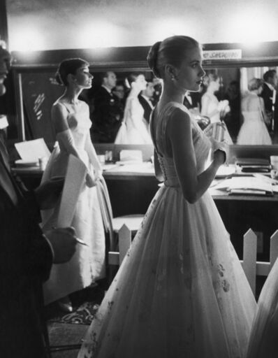 Allan Grant, 'Audrey Hepburn and Grace Kelly Backstage at the at the at the 28th Annual Academy Awards, Hollywood, CA', 1956