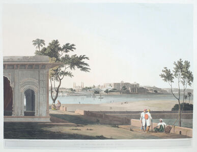 Thomas Daniell, 'View of Mutura, on the River Jumna', 1803