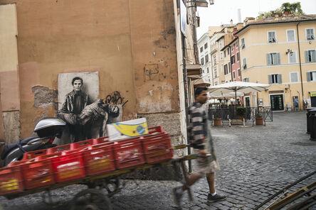 Ernest Pignon-Ernest, 'Si je reviens. Pasolini {Campo di Fiori, 2}', 2015
